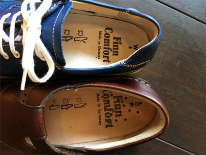 靴のかかと部分が固い心材で出来ている方が足が浮きにくいです