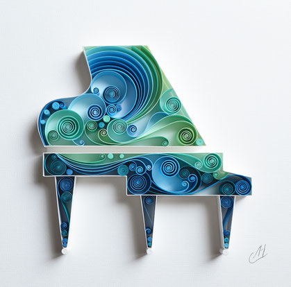 Piano, Music, Paper anniversary, Wall paper art, Gift for musician, Engagement, Musician art, Home decor, Wedding gift, Birthday