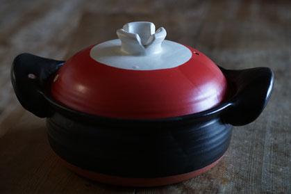 仲本律子 R工房 女性陶芸家 ブログ 土鍋 赤い土鍋