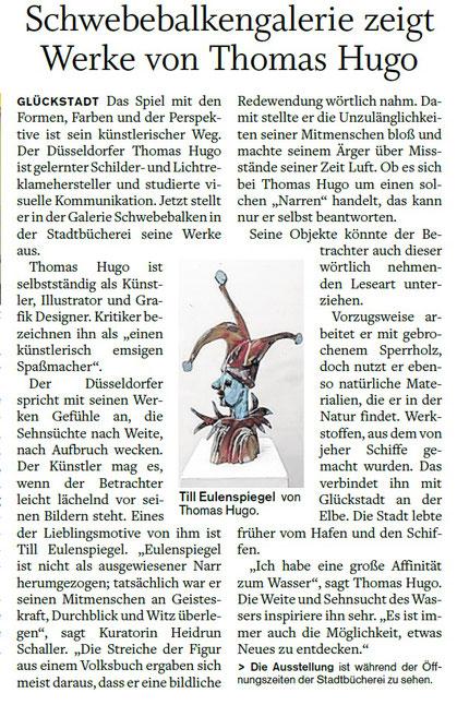 Schwebebalken zeigt Werke von Thomas Hugo