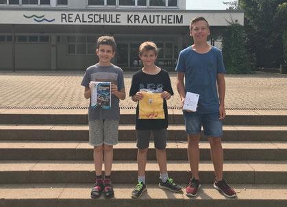 v.l. Luca Keller (5a), Benedikt Nied (5b) und Jonas Rüdinger (9a)