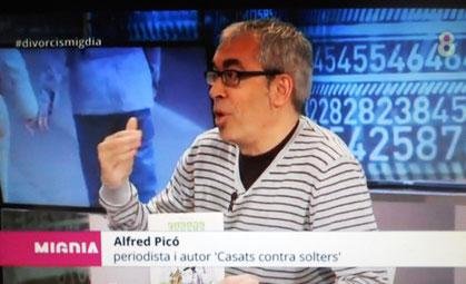 """Convidat del programa """"Migdia"""", de 8TV"""