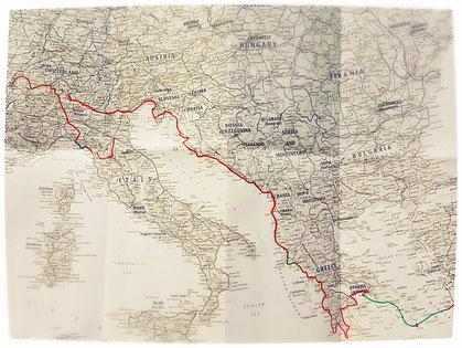 Itinéraire, Europe, voyage à vélo, Laetitia, bike touring, entreicietla