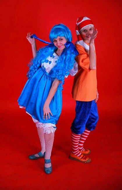 аниматоры мальвина и буратино на детский праздник день рождения ребенка москва на дом детский сад школу