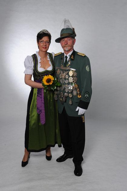 Königspaar Michael I    Hildegard I   2012-2014  Reddehase