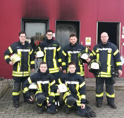 Von links: Christian Schigowski, Luis Nachtwey, Thorben Schneemann, Andreas Nolte  Von links unten: Brian Wolfram, Garvin Wolfram