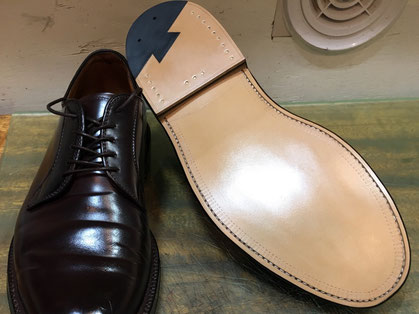 shoerepairViragon 靴修理ヴァラゴン : オールソール(靴底交換) : Alden(オールデン)