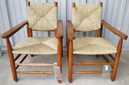 rempaillage de fauteuil Méribel de C.PERRIAND