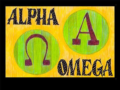 """Jésus est l'Alpha et l'Oméga. Nous lisons en Apocalypse: """" Je suis l'Alpha et l'Oméga, le premier et le dernier, le commencement et la fin.  16 Moi Jésus ..."""""""