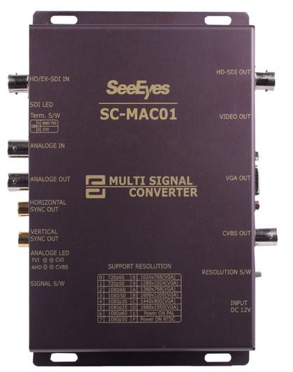 HD-SDI/EX-SDI/AHD/TVI/Analog to VGA, HDMI, CVBS マルチコンバータ - 製品写真