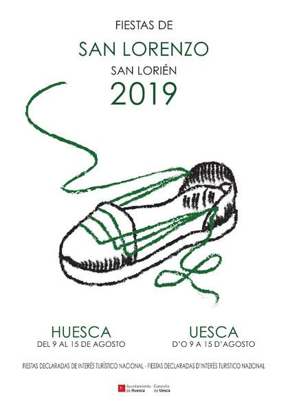 Cartel Fiestas San Lorenzo Huesca 2019