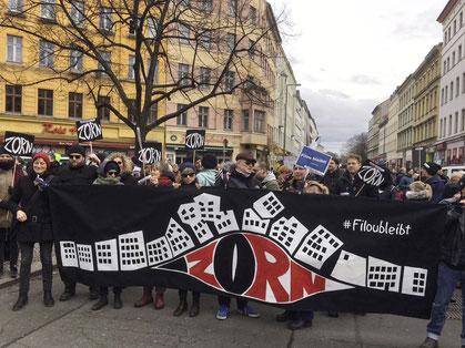 Kiez-Demo 25.02.2017, Zorn, Filou bleibt, GloReiche