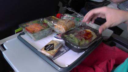 Die Hauptspeise - Barbecue Chicken mit Salat und Apfelkuchen