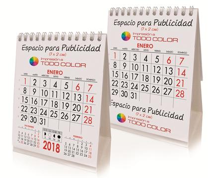 Mini Calendario de13 hojas sobremesa doble