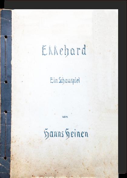 Ekkehard - Ein Schauspiel von Hanns Heinen, 1924