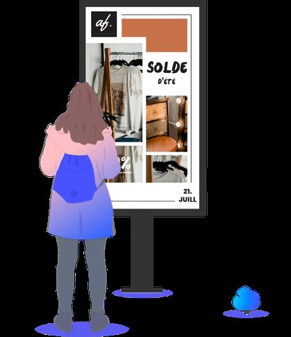 Affichage dynamique, écran dynamique, communication interactive