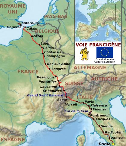 Itinéraire de la Voie Francigena