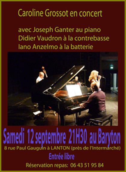Flyer concert au Baryton à Lanton le 12 septembre 2015