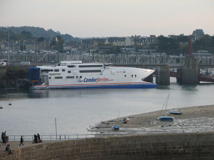 Condor Express berthed in Saint-Malo.