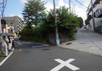 鎌倉中の道(本宿小学校の上)