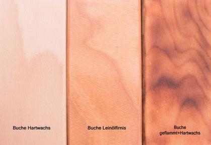 Leinölfirnis verleiht der Buche einen wärmeren Farbton und schützt gleichzeitig die Oberfläche