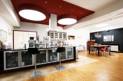 Immobilienfoto, Bild des Koch- und Essbereichs