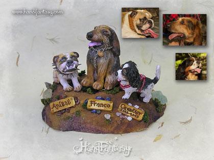 Figura de mascotas personalizadas, figura de perros