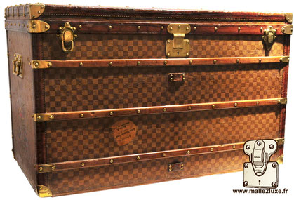 Louis vuitton tropical checkered high courier trunk louis vuitton