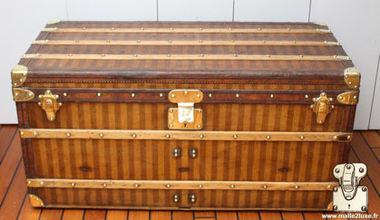 Louis Vuitton striped canvas mail trunk