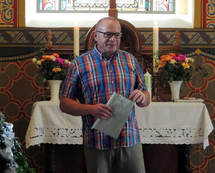 Der Superintendent des Kirchenkreises Haldensleben Wolmirstedt, Herr Uwe Jauch, überbrachte die herzlichsten Grüße und hatte auch noch etwas anderes im Gepäck.