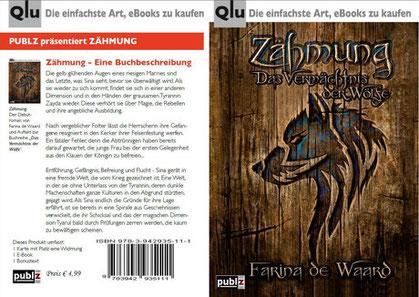 "ebook Karte ""Zähmung"" von Farina de Waard"