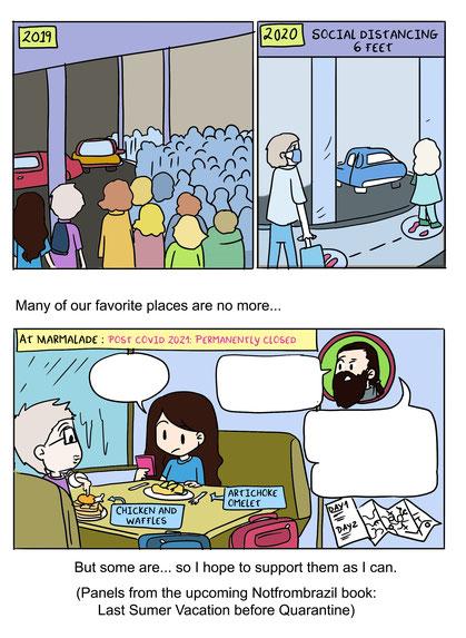 supportlocals supportlocalbusinesses post covid cartoon webtoon comic vanessa bettencourt art notfrombrazil