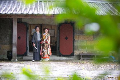 濱田庄司記念益子参考館で和装前撮り