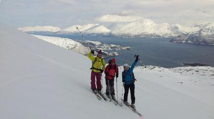 Kavringstind Lyngenalpen Skitouren Norwegen