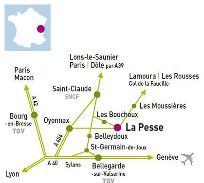 Venir a la pesse site de village lapesse - Office du tourisme bellegarde sur valserine ...