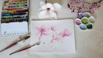 Aquarellkurs Blumen und Blüten