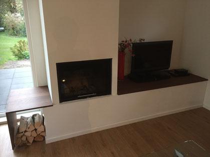 Tv-meubel om schouw te Wezep