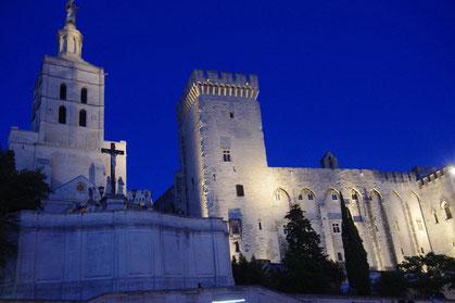 Le palais des papes, plus grand palais gothique au monde, à 15 minutes de la chambre d'hôtes le clos des Sorgues