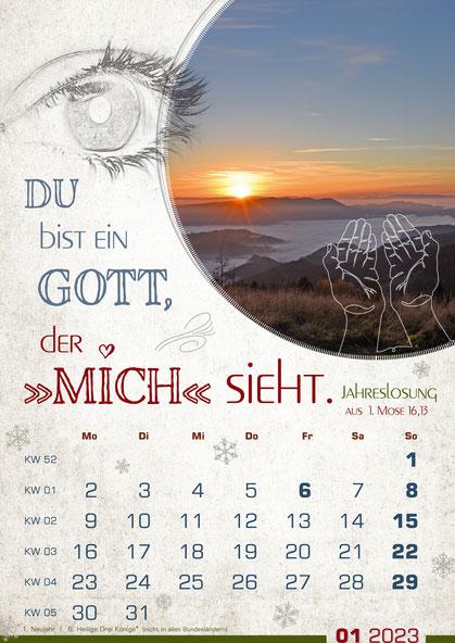 Kalender Motivation Vorschau August