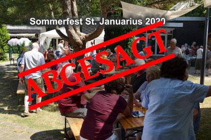 Fotomontage: Sommerfest abgesagt