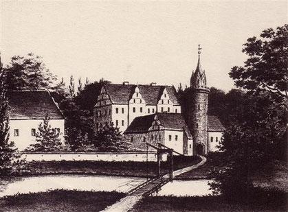 "Die ""Alte Burg"" um 1670."