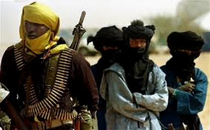 Folk fra Tuareg-oprørsbevægelsen MNLA