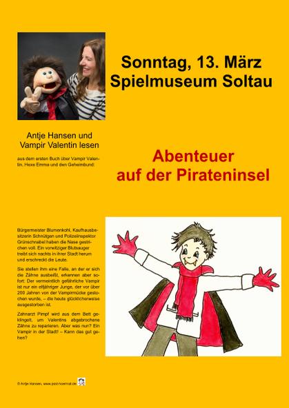 Antje Hansen und Vampir Valentin lesen im Spielmuseum Soltau