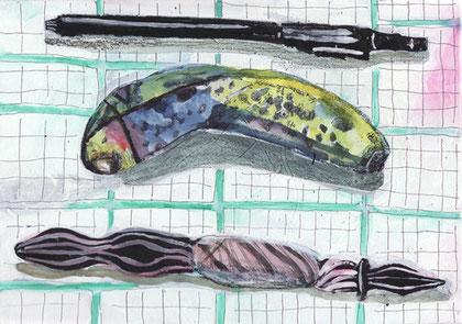 腐りかけのバナナ ガラスペン 筆ペン