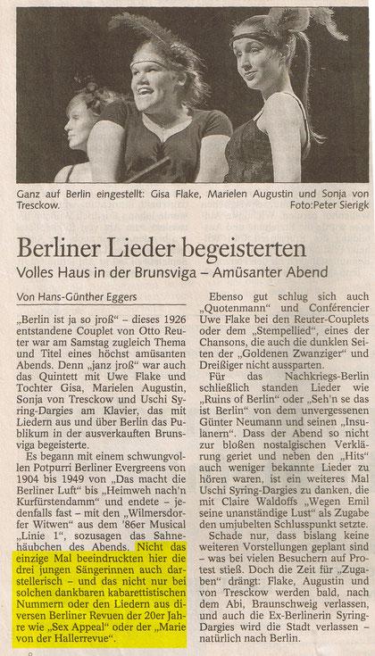 Braunschweiger Zeitung 17. Januar 2005