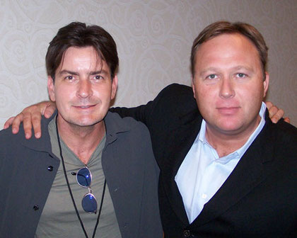 l'acteur Charlie Sheen et Alex Jones