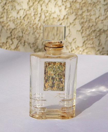 FLACON 1ère TAILLE LUBIN : CHYPRE ROYAL PARFUM - ETIQUETTE DOREE ABIMEE, ECRITURE VERTE