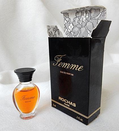 FEMME - PARFUM DE TOILETTE : AMPHORE LARGE BOUCHON PLASTIQUE NOIRE  - BOÎTE NOIRE