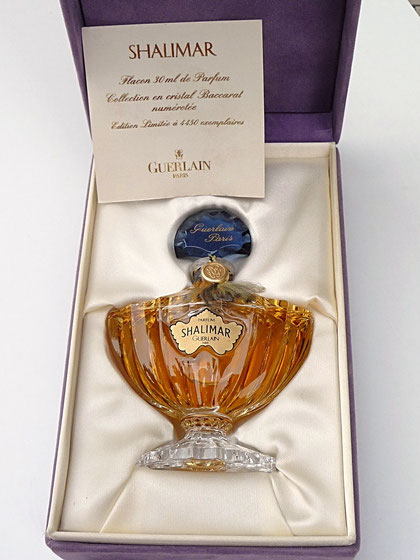 1924 - SHALIMAR - FLACON AMPHORE PARFUM 30 ML - COLLECTION EN CRISTAL DE BACCARAT
