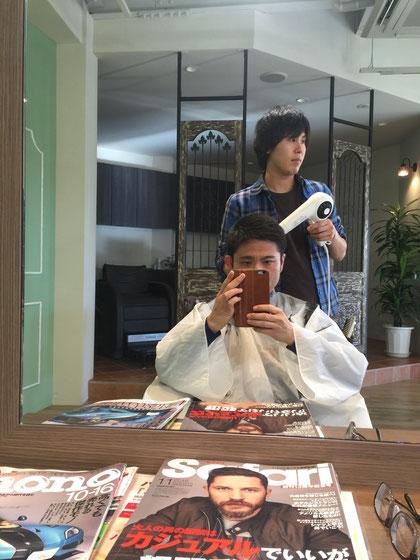 日進市のカリスマ美容師に髪型を委ねたガーデンドクター柴ちゃん!